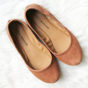 Lucky Brand Genuine Leather Emmie Ballet Flats